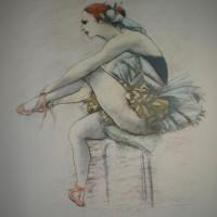 Ballerina con scarpette rosa